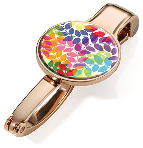 - Troika COLOURFUL LEAVES – #BGH04-A084 – Handbag holder and -clip – holds up to 5 kg – metal– shiny – polished – rose-gold, multicoloured original