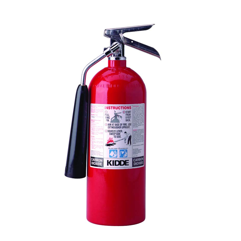 Kidde 466180 Pro 5 Carbon Dioxide, Food and Electronic Safe, Environmentally Safe, Fire Extinguisher, UL Rated 5-B C