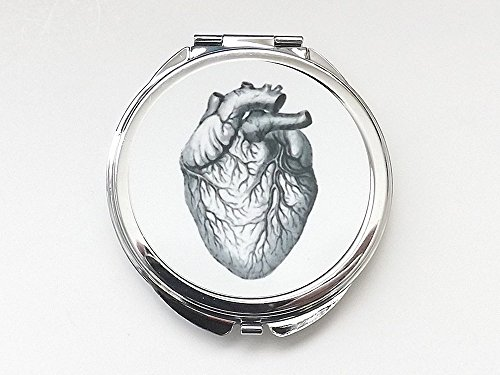 round Anatomy Heart Compact Mirror doctor nurse physician medical school graduation