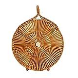 Bamboo Bag,Sundlight Western Style Handmade Woven Handbag Summer Beach Tote Bag