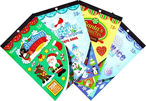 Reindeer Hat Craft - Darice Christmas Sticker Book Assortment - 4 Books 1100 Total Stickers
