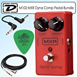 Dunlop MXR Dyna Comp Effects Pedal with Neo Tortoise Picks 12 Pack, Path Cable and Instrument Cable