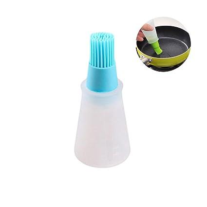 AOLVO - Dispensador de Aceite pequeño, dispensador de Aceite de Silicona, Cepillo de Botella