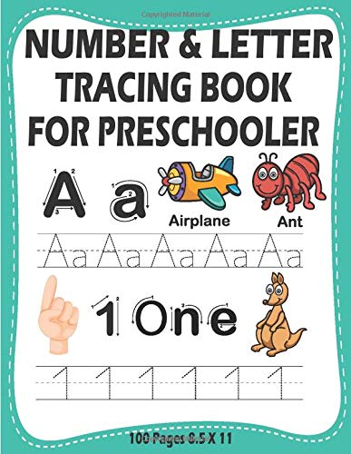 Number And Letter Tracing Book For Preschooler  Printing Practice Kids Journal Alphabet Tracing Sheets 3 Year Old Writing Workbook Abc Books Toddlers Writing Handwriting Paper Kindergarten