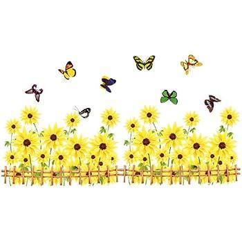Amazon.com: Kappier Yellow Gerbera Daisy Flowers / Sunflowers with ...