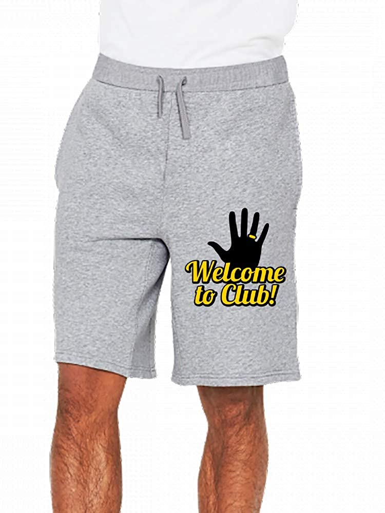 Welcome to Club Left Hand Mens Casual Shorts Pants