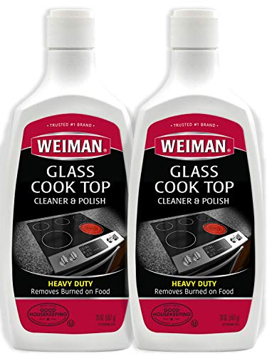 Weiman Glass Cook Top Cleaner and Polish - 20 Ounce (2 Pack) Heavy Duty Non-Scratch Glass Ceramic Safe Non-Abrasive Stovetop Cooktop ()