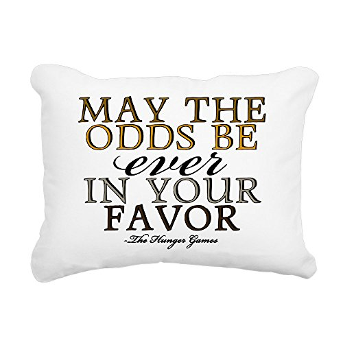 """CafePress - Hunger Games Quote - 12""""x15"""" Rectangular Canvas Pillow, Decorative Throw Pillow with Piping, Accent Pillow"""