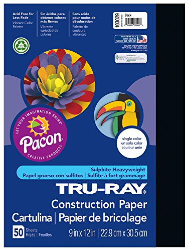 Pacon Tru-Ray Construction Paper, 9-Inches by 12-Inches, 50-
