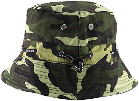 Natuworld Cotton Bucket Hats Camouflage Round Brim Boonie Bush Safari Fishing Hat Cap Summer for Unisex Men Women – 7 Color Available