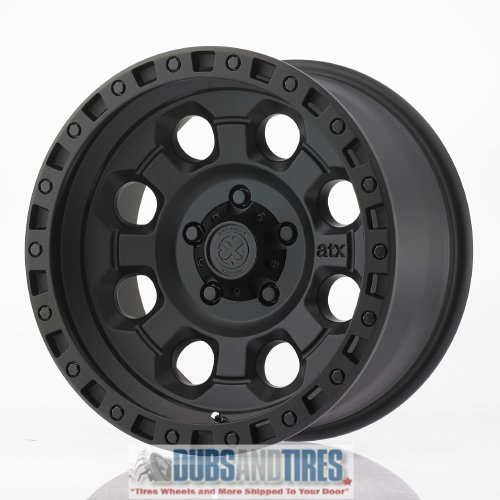 American Racing ATX AX201 16×8 Black Wheel / Rim 5×4.5 with a 0mm Offset and a 83.06 Hub Bore. Partnumber AX20168012700