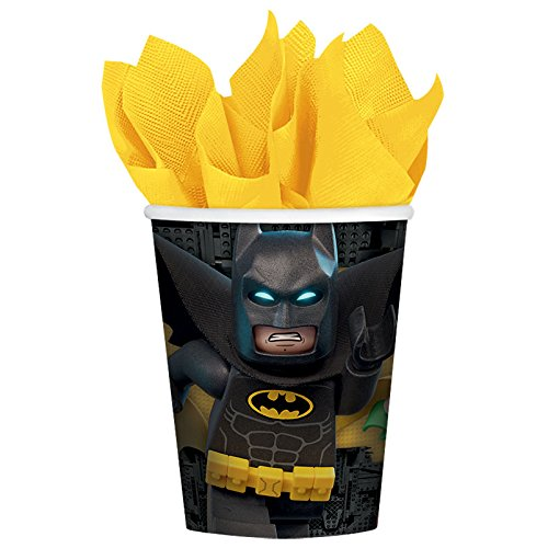 American Greetings Boy's Lego Batman 9 oz Cups (8 Count)