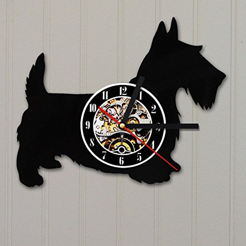 Jedfild The lovely art wall clock dog styling