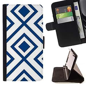 For Samsung Galaxy S6 Case , Motif Blanc Vintage Wallpaper - la tarjeta de Crédito Slots PU Funda de cuero Monedero caso cubierta de piel