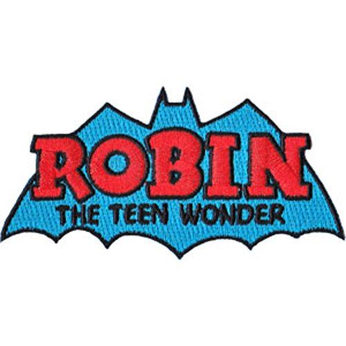 DC Comics (Batman) Robin The Teen Wonder Retro Embroidered Patch (Can Be Ironed Or Sewn On) (with Gift (Vest Robin)