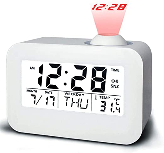 PEIQI HOME Despertador Proyector Reloj Proyector para Dormitorios ...