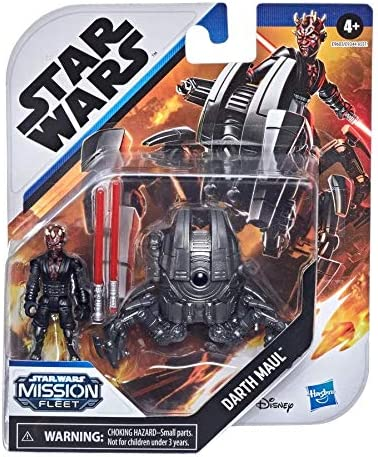 STAR WARS Mission Fleet Gear Class Darth Maul Sith Probe Pursuit 2.5-Inch-Scale Figure and Vehicle Toys for Kids Ages 4 and Up