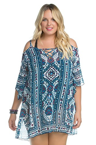 Becca-ETC-Womens-Plus-Size-Inspired-Lace-Up-Front-Cold-Shoulder-Tunic-Swim-Cover-Up-3X-Mlt
