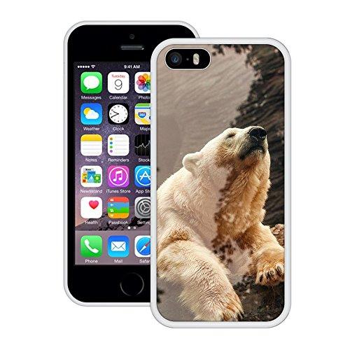 Bär   Handgefertigt   iPhone 5 5s SE   Weiß Hülle