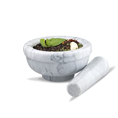 Sagler mortar and pestle set Marble Grey 4.5  diameter