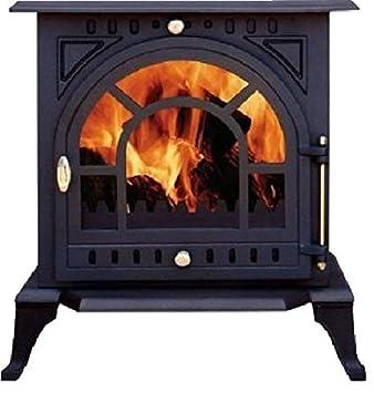 Multifuel estufa de leña nuevo hierro fundido diseño de estufa: Amazon.es: Bricolaje y herramientas