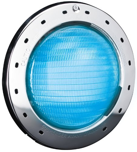 Zodiac CPLVLEDP100 WaterColors 12-Volt LED Pool and Spa Light with Plastic Face Ring, 100-Feet Cord, Large
