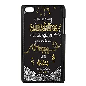 iPod Touch 4 Cases, DDdiy you are my sunshine Custom Hard Back Cover Case for iPod Touch 4