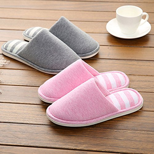 Toe Cotton 6 Sandals YUENA Couple Slippers Home Slip Open Non CARE OYBw8O