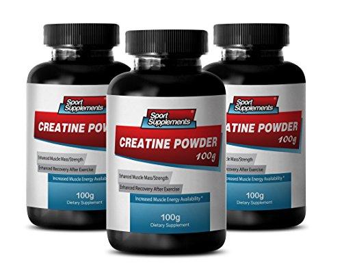 Pure Creatine Powder – Creatine Powder 100mg – Promote Weight Gains with Pure Herbal Creatine Powder (3 Bottles)