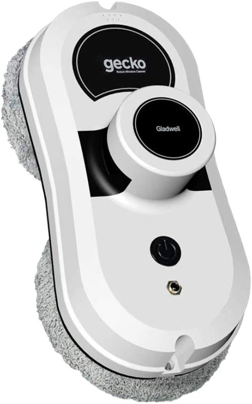 Gladwell, Gecko Robot Window Cleaner, Smart Glass Cleaning Robotic Technology App and Remote, Powered Washer for Table High Windows Ceiling Magnetic Automatic, Outdoor Indoor, White