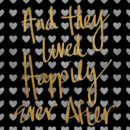 24 x 24 Happily Ever After Pattern Poster Print by Sd Graphics Studio
