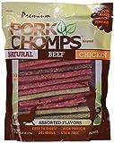 Premium Pork Chomps Munchy Sticks Assorted Natural, Beef & Chicken 50ct