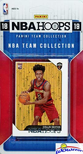 Cleveland Cavaliers 2018/2019 Panini Hoops NBA Basketball EXCLUSIVE Factory Sealed Limited Edition 7 Card Team Set with Kevin Love, George Hill, Tristan Thompson, Collin Sexton Rookie & More! WOWZZER!