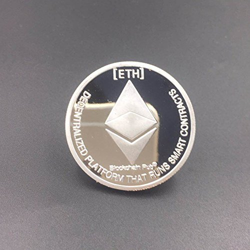 Non-currency Coins - Gold Silver Plated Ethereum Coin Replica Art Collection Gift Physical Metal Antique Imitation Non - Antiques Silver Dollars Album Donald Coins Under 1955 1971 Uncirculated