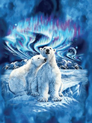 Polar Bears Mink Plush Blanket Queen Size - Signature (Polar Bear Blanket)