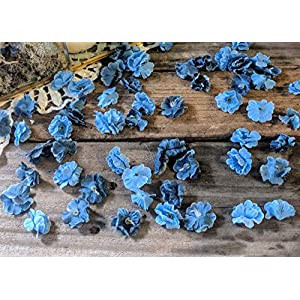 Wedding Sweetheart Table Decor, Rustic Bridal Shower Decorations, Table Setting Ideas for Party, Artificial Baby's Breath, Dusty Blue Flower Confetti 2