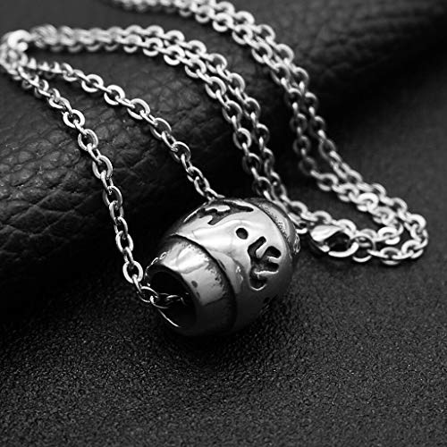 (Buddhism Six Words Lucky Bead Pendant Necklace Prayer Beads Necklace Unisex Necklace Jewelry Crafting Key Chain Bracelet Pendants Accessories Best)