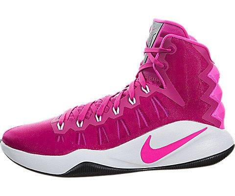 NIKE Men's Hyperdunk 2016 Vivid Pink/Pink Blast White Blk Basketball Shoe 10 Men US