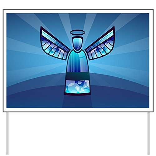 Stained Glass Yard Sign (Yard Sign Contemporary Abstract Stained Glass Angel)