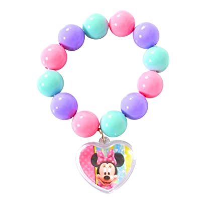 Amscan 396406 Disney Minnie Mouse Bead Bracelet Kids Accessories (1 Piece Per Package), 50, Multi Color: Kitchen & Dining