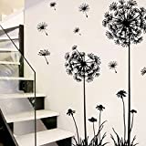 Wall Stickers, E-Scenery Grand Sale! Dandelion Removable DIY 3D Wall Decals Mural Art Wallpaper for Room Home Nursery Wedding Party Birthday Office Window Decor, Black