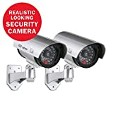 SANNCE (2) Bullet Fake Security Surveillance CCTV Camera with Red Light,Dummy Surveillance Camera Outdoor Indoor Use,Wireless Simulate Cameras for Home Security For Sale