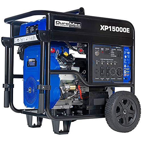 DuroMax XP15000E Gas Powered Portable-15000 Watt-Electric Start- Home Back Up & RV Ready, Generator 50 State Approved