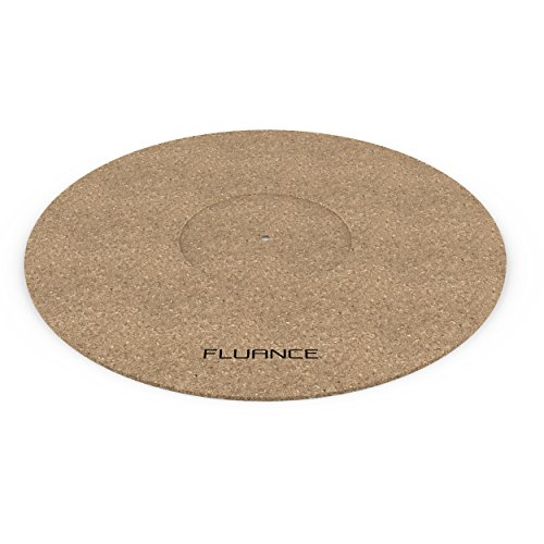 Fluance Turntable Cork Platter Mat - Audiophile Grade Improves Sound & Performance for Vinyl Record Players (TA21) by Fluance