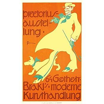 Preetorius Ausstellung Vintage Poster (artist: Emil Preetorius) Germany c. 1908 (24x36 Giclee Gallery Print, Wall Decor Travel Poster)