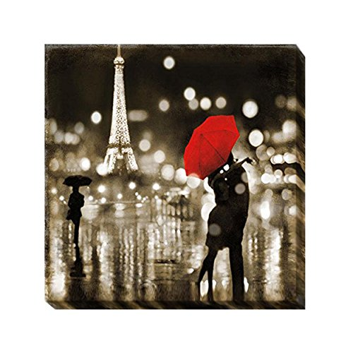 Artistic Home Gallery 3636O277TG a Paris Kiss by Kate Carrigan Oversize Custom Gallery-Wrapped Canvas Giclee Art (Ready to Hang) from Artistic Home Gallery
