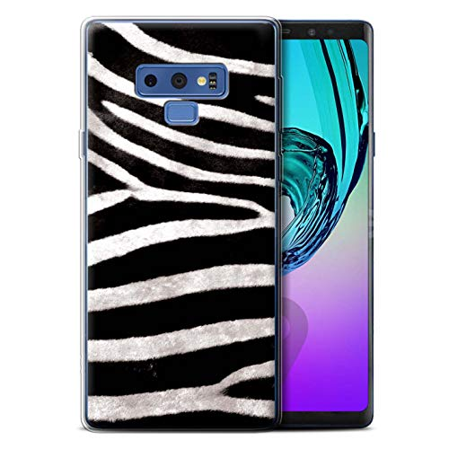 STUFF4 Gel TPU Phone Case/Cover for Samsung Galaxy Note 9/N960 / Zebra Design/Animal Fur Effect/Pattern Collection