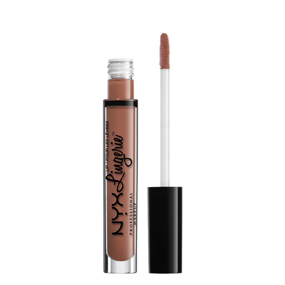 NYX PROFESSIONAL MAKEUP Lip Lingerie Matte Liquid Lipstick, Bedtime Flirt