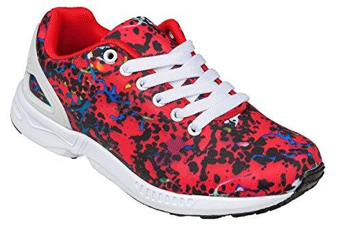 gibra - Zapatillas de tela para mujer Rojo - rojo