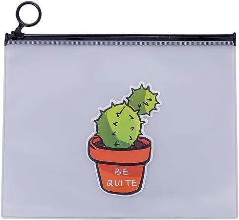 Topdo - Estuche de plástico con diseño de Cactus, 17,1 x 21,2 cm, Style C, 17.1 * 21.2CM: Amazon.es: Hogar